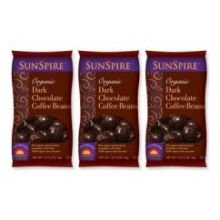 SunSpire Grain-Sweetened Dark Chocolate Expresso Beans, 10 Pound Box