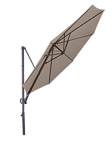 """Doppler Hochwertiger Ampelschirm """"Ravenna 300"""" in greige, neigbar, 360 Grad drehbar, UV-Schutz 50 PLUS, kaufen"""