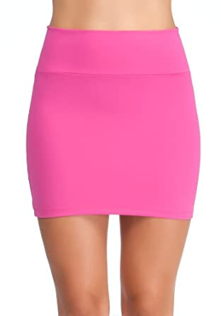 bebe High Waisted Miniskirt Work Sportswear Very Berry-l