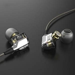 【HasWEX】 2ドライバ搭載 高音質イヤホン マイクなし カナル型 クリップ付き VJJB-V1