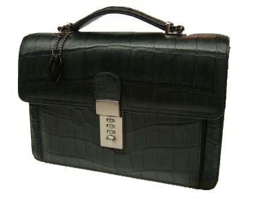 【傷や衝撃に強い!】最高級クロコダイル 手付セカンドバッグ(シャイニング)4151