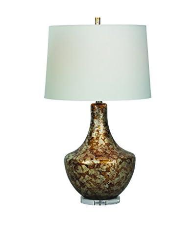 City Scape Paramount Lamp, Antique Gold/Silver