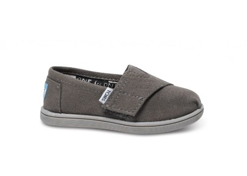 Toms Toddlers Tiny Classics Ash Canvas Ash Casual Shoe 11 Infants Us front-675478