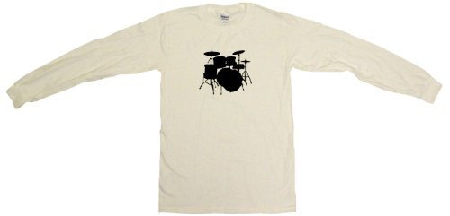 Drum Set Logo Drumset Men'S Sweat Shirt Large-White