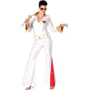 Elvis Female Jumpsuit Costume - Small/Medium - Dress Size 2-8
