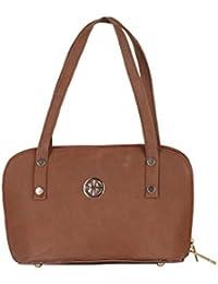 Dezino Women's Shoulder Handbag Brown ST_9