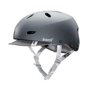 BERN Brighton Summer EPS Helmet with Visor,X-Small/Small,Matte Grey