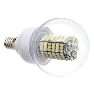 E14 8W 138X3528Smd 620Lm 6000-6500K Natural White Light Led Ball Bulb (220V)