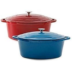 Ruff Hewn 5-Qt. Cast-Iron Casserole Pan - Multiple Colors
