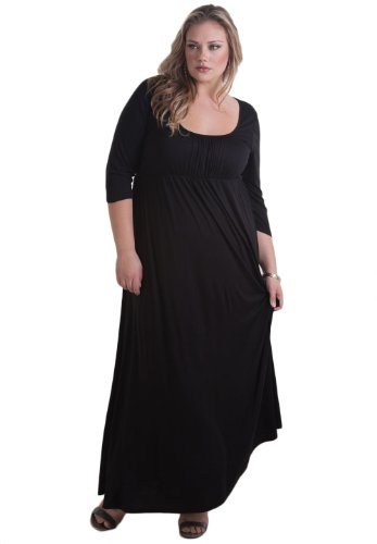 Sealed With A Kiss Designs Plus Size Lois Maxi Dress In Black - Size 5X, Black