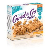 South Beach Diet Good to Go Bars Peanut Butter -- 5 Cereal Bars