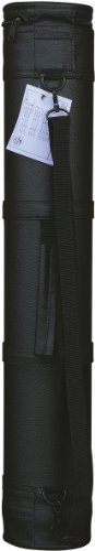Tran Art Carry Tube, 4-1/2 by 24-Inch, Leather Grain Black