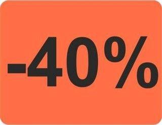 HKR-welt spécial) 40 % 39 x 30 mm 1000 étiquettes rouge clair)