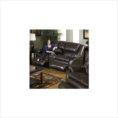 Picture of Catnapper Allegro Console Loveseat Leather: Mushroom (B004361N30) (Sofas & Loveseats)