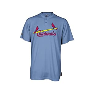 St. Louis Cardinals Jersey Retro (YOUTH XL) MLB 2-Button Cool Base Cooperstown... by Team MLB - Authentic Sports Shop