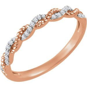 14kt Rose .08 CTW Diamond Stackable Ring