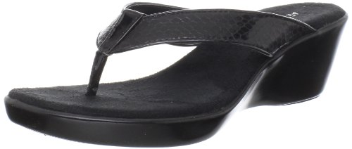 Aerosoles Women's Wide Eyes Wedge Sandal,Black Combo,6 M US