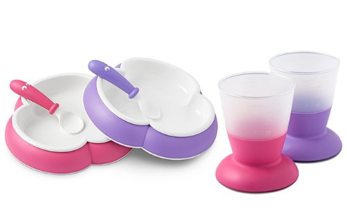 Babybjorn Plate, Spoon And Cup Set (Purple/Pink) front-468530