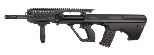 Licensed Asg Steyr Aug A3 Electric Airsoft Gun Semi & Full Auto Ris Rail System Full Metal Gearbox Fps-330 W/ High Capacity Magazine, Battery & Charger