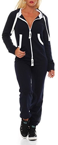 Damen Jumpsuit Jogger Jogging Anzug Trainingsanzug Einteiler Overall 9t5