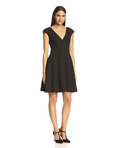 A.B.S. by Allen Schwartz Women's Deep V-Neck Fit and Flare Dress