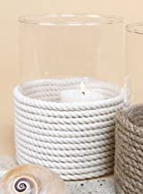 Glass Large Votive Candle Holder with Rope, Modern Home Decor
