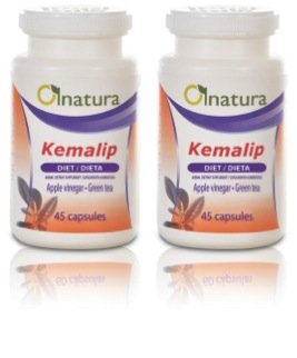 Kemalip, Helps To Burn Fat And Lose Weight In A Natural Way, Contains Garcinia Cambogia And Other Thermogenic Substances, Natural Food Supplement - Dual Pack, (Count 90)