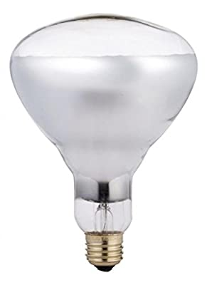 Phillips 416743 Heat Lamp 250-Watt BR40 Clear Flood Light Bulb