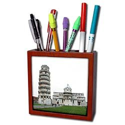 Vacation Spots - Tower Of Pisa Italy - Tile Pen Holders-5 inch tile pen holder