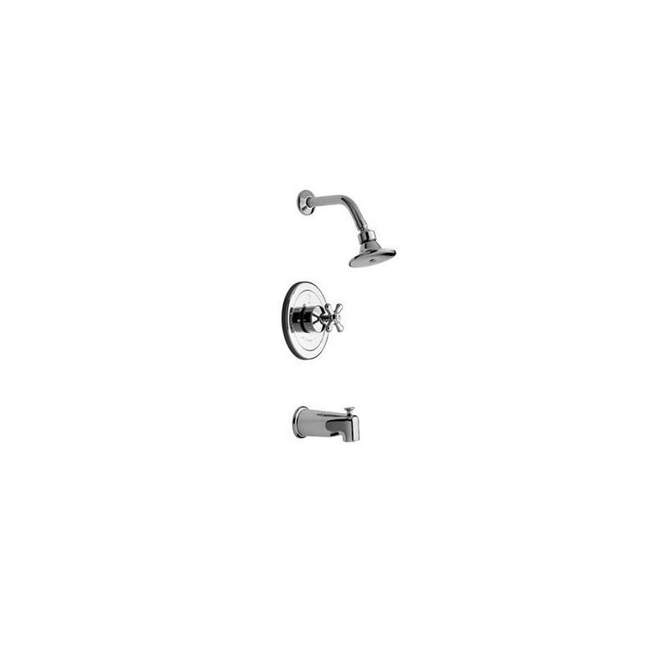 Barclay Denisse Polished Chrome 1 Handle Tub & Shower Faucet with Single function Showerhead U216/64CR