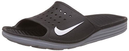 NIKE MEN'S SOLARSOFT SLIDE BLACK WHITE 386163 011 (8)