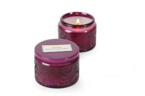 Voluspa Small Glass Jar Candle, Santiago Huckleberry, 3.2 oz