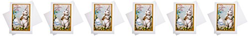 Easter Rabbit Playing Trumpet Blank Easter Card [With 6 Envelopes]