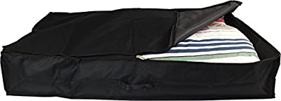 Neusu 80 Litre Heavy Duty Underbed Storage Bag - Large Size (96cm x 48cm x 18cm) 80 Litre Capacity - Strong 600D Polyester Material With Web Reinforced Handle - Fits Bedding, Clothes, Pillows, Etc Up To King Size Duvet - Alternative to Blanket Box