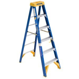Werner OBEL06 Old Blue Electricians 375-Pound Duty Rating Fiberglass Stepladder/Job Station, 6-Foot