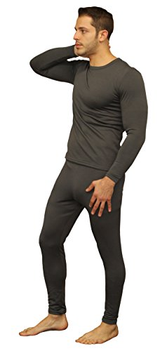Men's Ultra Soft Thermal Underwear Long Johns Set with Fleece Lined (Large, Grey) (Mens Spandex Thermal Underwear compare prices)