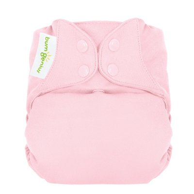 Freetime (Snap) Aio Diaper With Stay Dry Liner - Blossom