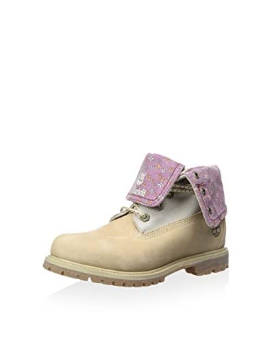 Timberland Women's Authentic Canvas Fold Down Lace-Up Boot