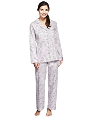 Pure Cotton Cool Comfort™ Revere Collar Floral Pyjamas