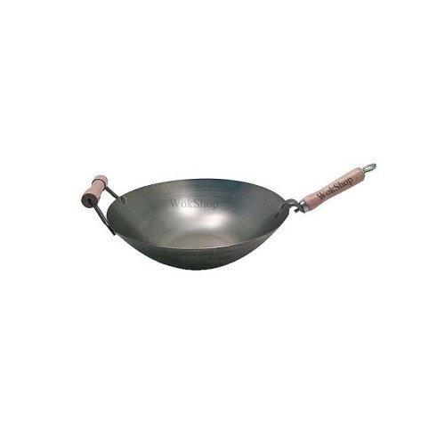 16 inch Carbon Steel Wok w/ Helper Handle (round bottom) USA made (16 Wok Carbon compare prices)