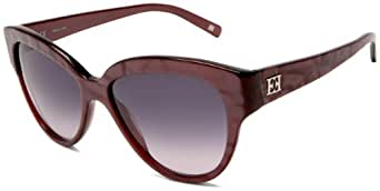 Escada Women's SES188550J32 Cat Eye Sunglasses,Strawberry Frame/Smoke Lens,One Size