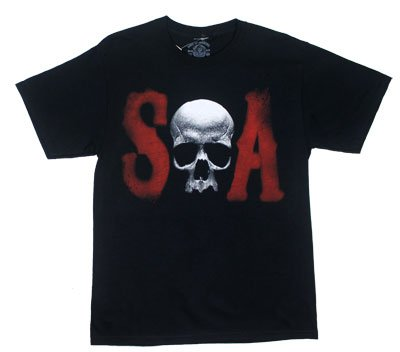 Skull S And A - Sons Of Anarchy T-shirr: Adult Medium - Black