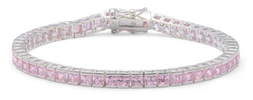 Pink Cubic Zirconia Tennis Bracelet, Silver, 18cm Length, Model 8.22.8001
