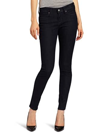 Levi's Women's Mid Rise Legging Jean, Deep Night, 4 Medium