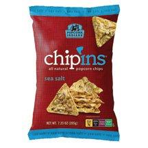 Popcorn Indiana Popcorn Chips Sea Salt Flavor, 1-Ounce (Pack of 48)