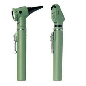 Riester Ri-Mini Otoscope/Ophthalmoscope Kit, Halogen 2.5 V, Green