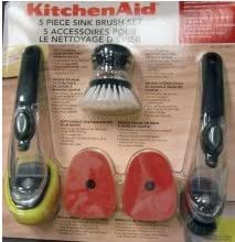 KitchenAid 5PC Sink Brush Set (Black - Set of 5)