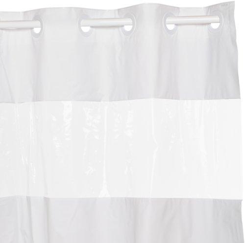 Shower Curtain Hookless Peva White W Window