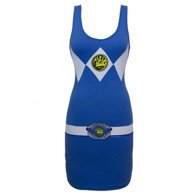 Power Rangers Blue Power Ranger Adult Tank Dress