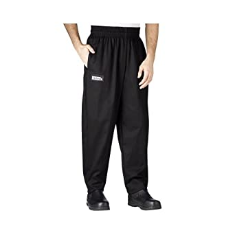 Chefwear Large Black Baggy Chef Pants